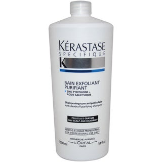 Kerastase Specifique Bain Exfoliant Purifiant 34-ounce Shampoo for Oily Hair and Scalp