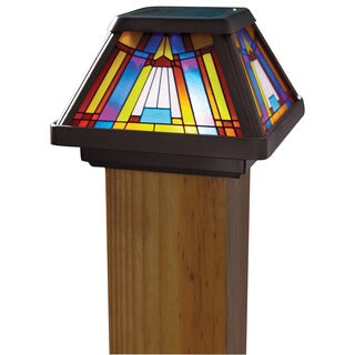 Inglenook 6X 1-light Stain Glass Post Lamp