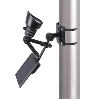 Illuminated 1-light Black Flagpole Light