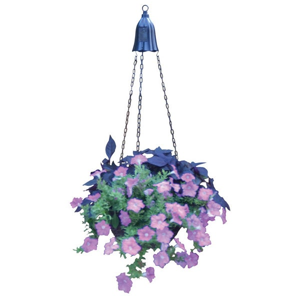 Metal 1-light Hanging Planter Light