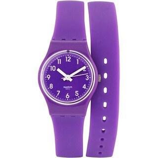 Swatch Women's Originals LV115 Purple Rubber Quartz Watch with Purple Dial