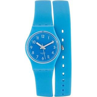 Swatch Women's Originals Blue Rubber Quartz Watch