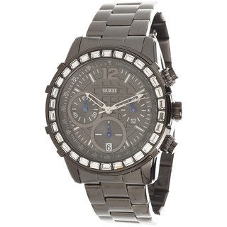Guess Men's Black Stainless Steel Chronograph Watch