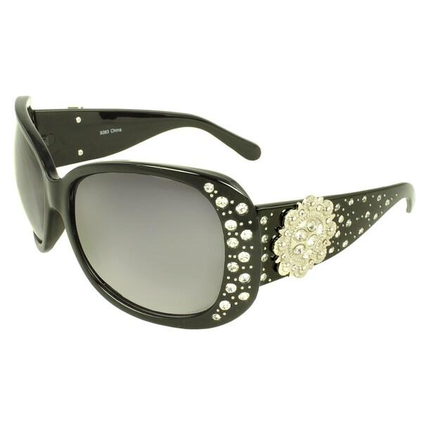Women's 'Bling Bling' Large Oval Sunglasses