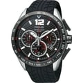 Pulsar Men's Chronograph Black Dial Red Accent Watch - PU2021