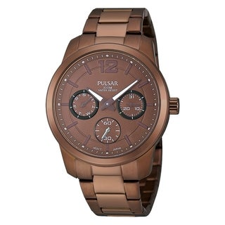 Pulsar Women's Chronograph Chocolate Brown Ion Day/Date Watch - PP6063