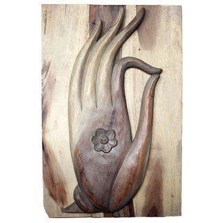 Mudra Hand Carved Agate Grey Oil Panel (Thailand)