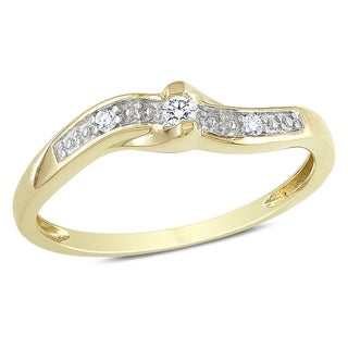 Haylee Jewels 10k Yellow Gold Diamond Accent Promise Ring