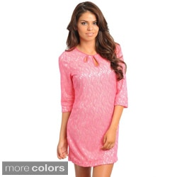 Stanzino Women's Paisley Lace Shift Dress