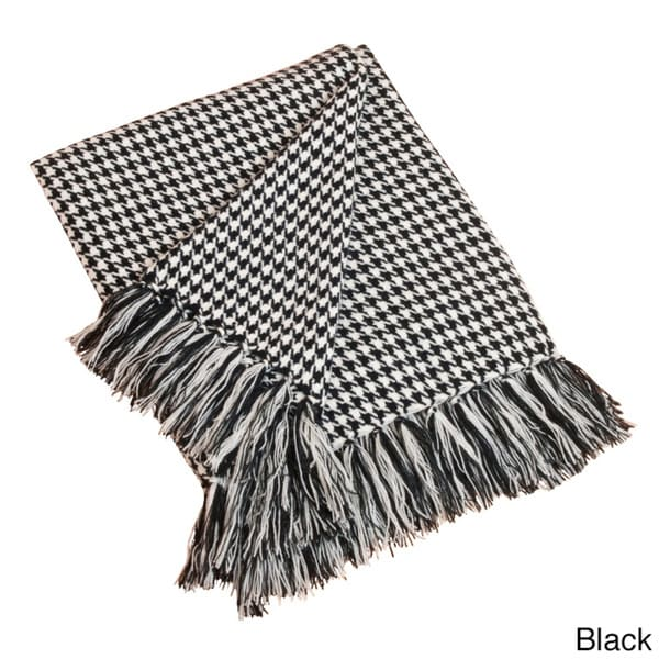 Houndstooth Throw