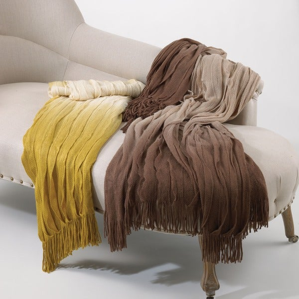 Ombre Ruffle Throw