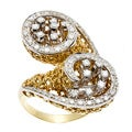 18k Yellow Gold 1 1/5ct TDW Diamond Antique Estate Ring (J-K, VS1-VS2)