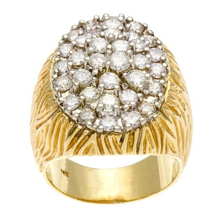 14k Yellow Gold 4 1/2ct TDW Diamond Jumbo Estate Ring (H-I, SI1-SI2)