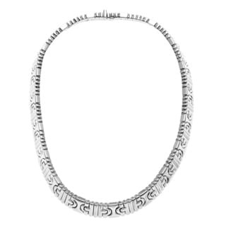 Bvlgari 18k White Gold 'Parenthesis' Necklace