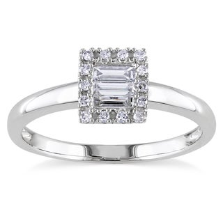 Miadora 10k Gold 1/4ct TDW Baguette and Round Diamond Ring (G-H, I1-I2)