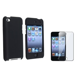 BasAcc Black Case/ Screen Protector for Apple iPod Touch 4