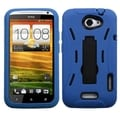 BasAcc Blue/ Black Armor Hybrid Stand Case for HTC One