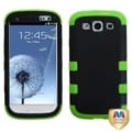 BasAcc Black/ Electric Green TUFF Hybrid Case for Samsung Galaxy S III