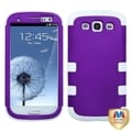 BasAcc Grape/ Solid White TUFF Hybrid Case for Samsung Galaxy S III