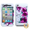BasAcc Morning Petunias/ Solid White TUFF Case for Apple iPod Touch 4