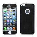 BasAcc Black/ Brushed Metal Shield Case for Apple iPhone 5