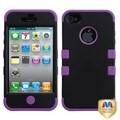 BasAcc Black/ Electric Purple TUFF Case for AppleiPhone 4/4S