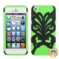 BasAcc Black/ Electric Green/ Butterflykiss Case for Apple iPhone 5