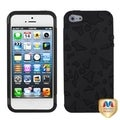 BasAcc Black/ Black/ Flowerpower Hybrid Phone Case for Apple iPhone 5