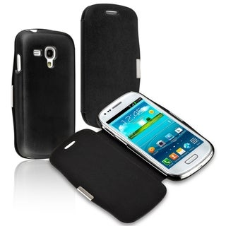 INSTEN Leather Phone Case Cover with Magnetic Flap for Samsung Galaxy S3 mini