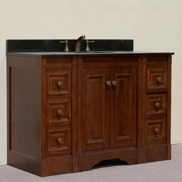 granite top 48 inch single sink bathroom vanity