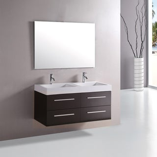 kokols 48 inch double sink bathroom combo set vanity overstock