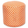 Pillow Perfect Hockley Orange Outdoor/ Indoor Bean Bag Ottoman