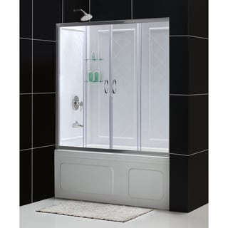 DreamLine Visions 56-60-inch Sliding Tub Door and Backwall Kit