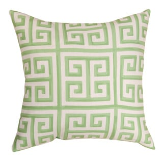Green Greek Key 18-inch Reversible Decorative Pillows (Set of 2)