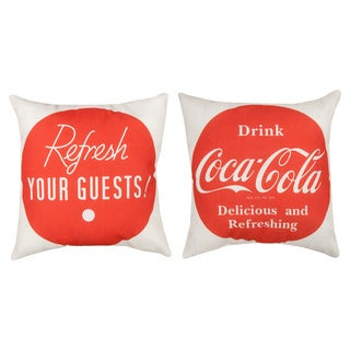 Coke 'Refresh Your Guests' Decorative Reversible Pillows (Set of 2)