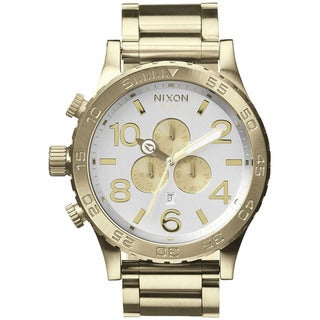 Nixon Men's 51-30 A0831219-00 Gold Stainless-Steel Quartz Watch with Silver Dial