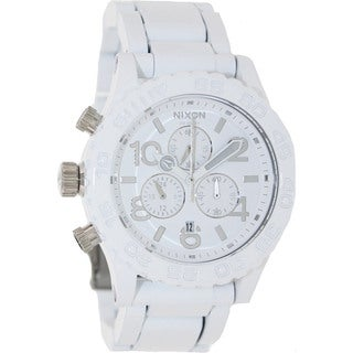 Nixon Men's A0371255-00 White Stainless-Steel Quartz Watch with White Dial