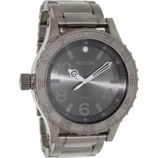 Nixon Men's 51-30 A351703-00 Grey Titanium Swiss Quartz Watch with Grey Dial