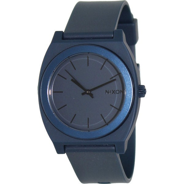 Nixon Men's Time Teller A1191309-00 Blue Rubber Quartz Watch with Blue Dial