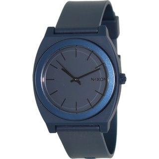 Nixon Men's Time Teller A1191309-00 Blue Rubber Quartz Watch with Blue Dial