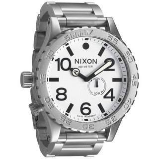 Nixon Men's 51-30 A0571166-00 Silver Stainless-Steel Swiss Quartz Watch