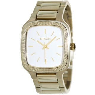 Nixon Women's Shelley A3621219-00 Gold Stainless-Steel Quartz Watch with Silver Dial