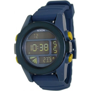 Nixon Men's Unit A1971264-00 Blue Rubber Quartz Watch with Digital Dial