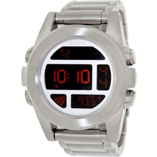 Nixon Men's Unit SS A3601263-00 Silver Stainless-Steel Quartz Watch with Digital Dial