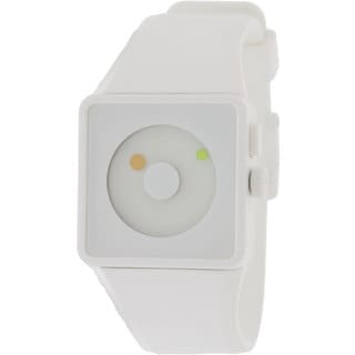Nixon Men's Newton A1161254-00 White Silicone Analog Quartz Watch with White Dial