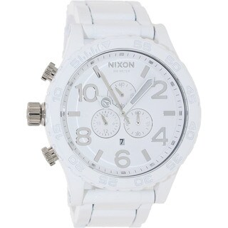 Nixon Men's 51-30 Chrono A0831255-00 White Stainless-Steel Quartz Watch with White Dial