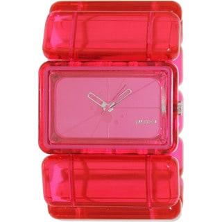 Nixon Women's Vega A726971-00 Pink Plastic Quartz Watch with Pink Dial