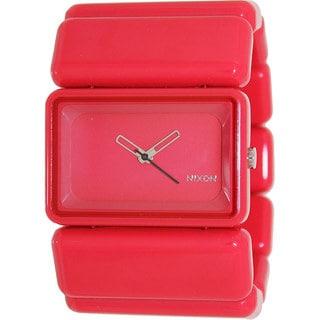 Nixon Women's 'Vega' Pink Plastic Quartz Watch