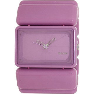 Nixon Women's 'Vega' Purple Plastic Quartz Watch