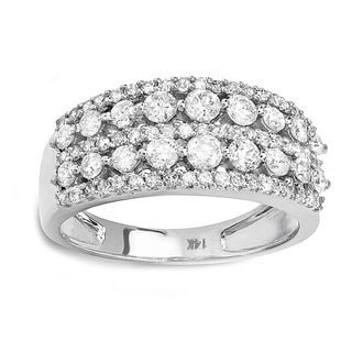 14k White Gold 1 1/6ct TDW Diamond Pave Engagement Ring (H-I, I1-I2)